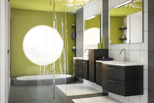 Une salle de bain personnalisable designettendance - Barres serviettes salle de bain ...